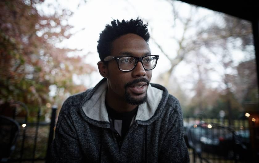 Damon Davis, Ferguson native and activist artist (Sebastiano Tomada.)