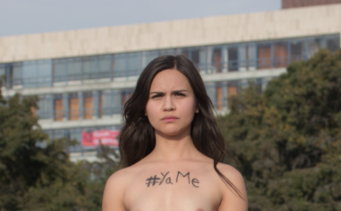 Mexican Demonstrators Stage Nude Protest For Killed Students