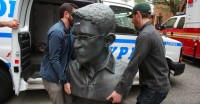 NYPD Frees Snowden Statue, Artists Face No Charges