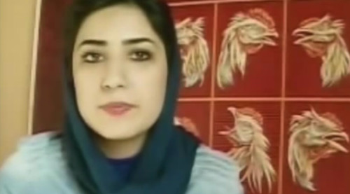 The 28-year-old artist Atena Farghadana is pictured before being given her 12-year-9-month sentence in June (Youtube.)