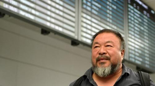 Ai Weiwei arrives in Munich, Germany, where he has been granted a four-year, multiple-entry visa in spite of Beijing's history of attacks on the artist (Christof Stache, AFP.)