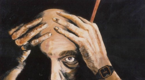 15 to Life - Self Portrait by Anthony Papa. Papa took up oil painting in prison, and his popularity as an artist led to his being granted clemency by NY Governor Geogre Pataki in 1996 (Safe Streets Arts.)