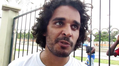 Luaty Beirão is pictured in a music video. His songs are known throughout Angola for calling for democracy and the resignation of President Jose Eduardo dos Santos (YouTube.)